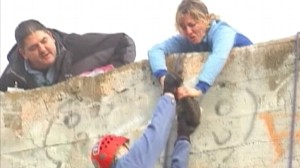 VIDEO: Having scaled Mount Everest, Kay Leclaire uses skills to save a stranded kitten.