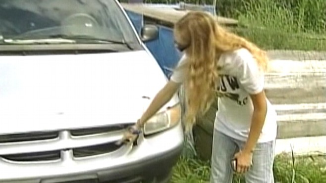 Video: Teen girl hits five deer in one year.
