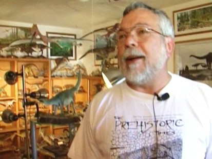 Video: Mans pre-historic collection crowds house.