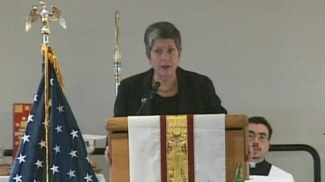 VIDEO: Homeland Security Secretary Janet Napolitano eulogized slain Jaime Zapata.