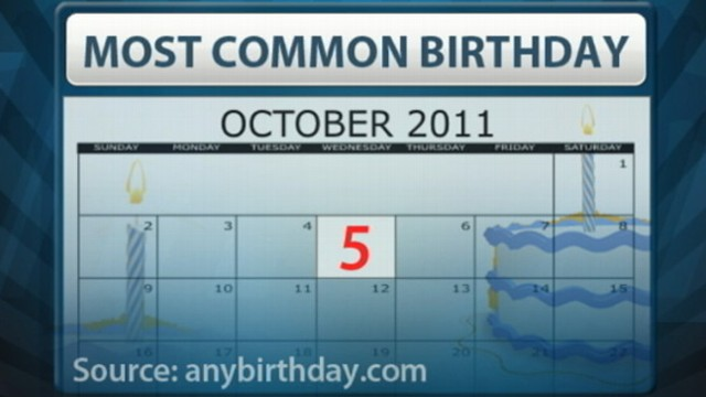 VIDEO: Babies born on October 5th were most likely conceived on New Years Eve.
