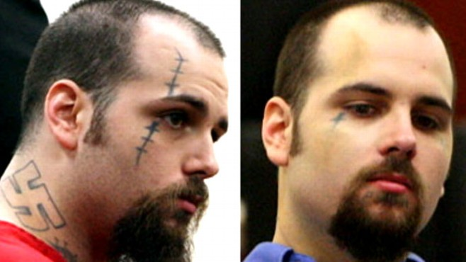 Video: Prisoner has makeup artist cover his tattoos before court.