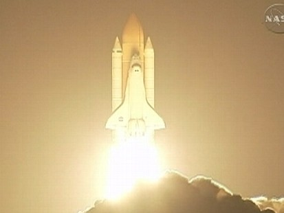 Video: Space shuttle Discovery makes a successful launch.