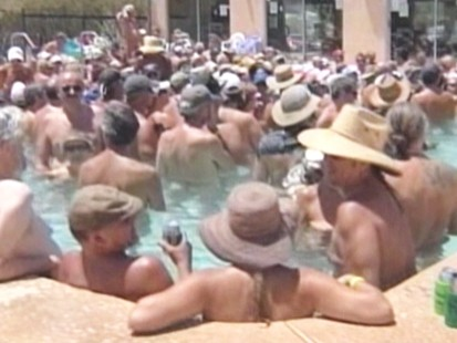 Video: Nude association tries to set skinny dipping record.