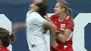 VIDEO: Women fight at college soccer game betweem Brigham Young and New Mexico.