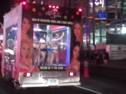 Video: Las Vegas strip club sees business boom after their stripper-mobile hits the streets.
