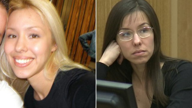 PHOTO: Left, Jodi Arias is seen in an undated photo pulled from her MySpace page, and right, in court on Jan. 9, 2013 for the murder of her boyfriend. Travis Alexander and Jodi Arias