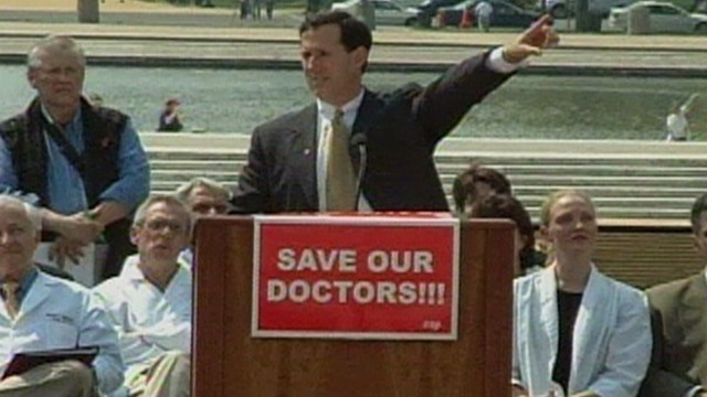 VIDEO: Rick Santorum on Medical Lawsuit Abuse 2005