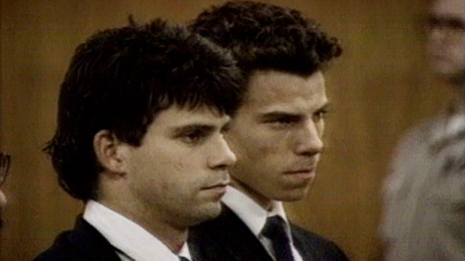 menendez brothers Lyle and erik menendez shoot their parents, jose and kitty, to death in the den of the family's beverly hills, california, home they then drove up to mulholland drive, where they dumped.
