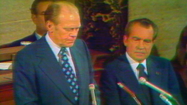 VIDEO: Gerald Ford Sworn in as Vice President