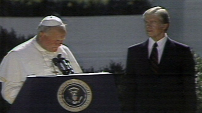 VIDEO: Pope John Paul II Visits White House