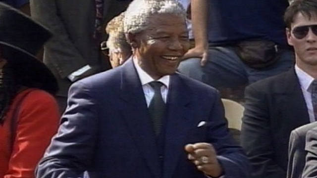VIDEO: Nelson Mandela is sworn in as the President of South Africa.