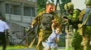 VIDEO: Chechens hold school children hostage 2004