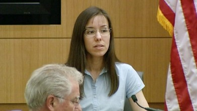 PHOTO: Jodi Arias testifies on the stand on Feb. 5, 2013.