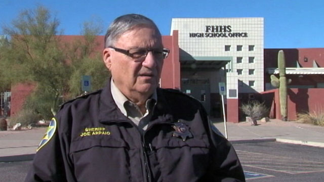 PHOTO: Sheriff Joe Arpaio say's he's assigning a volunteer posse to patrol Pheonix, Ariz. schools.