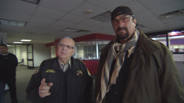 PHOTO: Sheriff Joe Arpaio of Maricopa County, Ariz., (left) has enlisted 3,000 civilian volunteers to his official sheriff patrol posse. Helping to train them is 90s action film star, Steven Seagal (right).