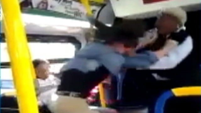 PHOTO: A Baltimore, Md. bus driver and a juvenile passenger got into a violent altercation on Nov. 12, 2012.