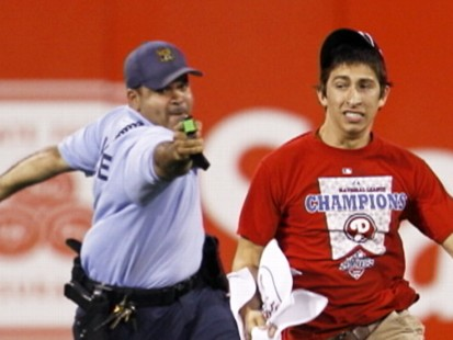 VIDEO: A 17-year-old is taken down with a stun gun after running onto the field.