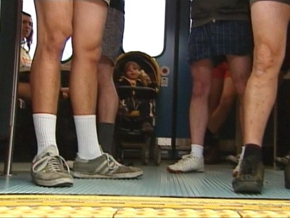 VIDEO: Straphangers shed some clothing for the ninth annual No Pants Subway Ride.