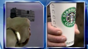 Video: Starbucks says it will allow licensed handgun owners to bring their weapons in stores.