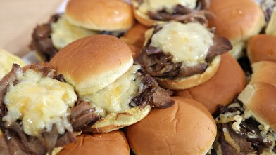 PHOTO: Josh Capon shares his recipe for BBQ Brisket Sliders.