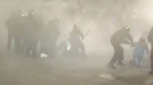 Video: College protest turns into violent scene.