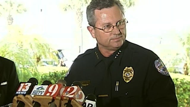 PHOTO: Sanford, Fla., Police Chief Bill Lee at a press conference where he announced that he is stepping down