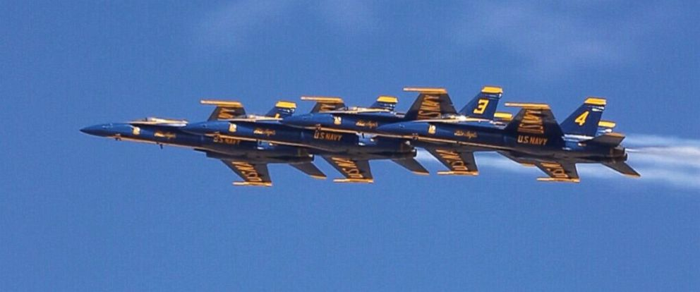 PHOTO: The U.S. Navy Blue Angels, shown here during winter training, perform daredevil stunts with wing tips as close as 18 inches apart.