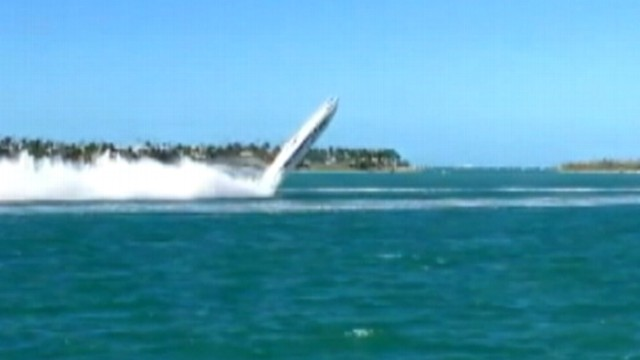 VIDEO: Two offshore racers died when their boat flipped at Key West event.