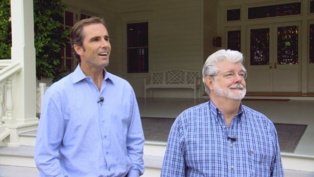 PHOTO: Bob Woodruff and George Lucas
