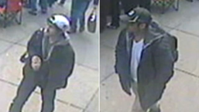 The FBI released images of the two suspects involved in the bombings. Source: abcnews.go.com.