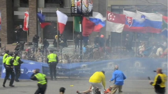 VIDEO: Ryan Hoyme captures the deadly explosion that occurred near the marathon's finish line.