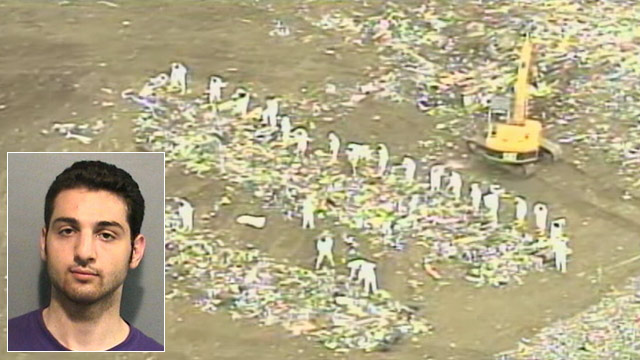 PHOTO: Authorities spent several days searching for Tamerlan Tsarnaevs laptop in a New Bedford landfill near the University of Massachusetts Dartmouth campus, where younger brother Dzhokhar Tsarnaev attended college, sources told AB