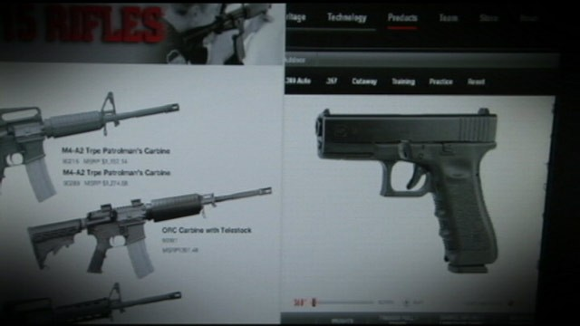 images of guns from a website are shown in this photo abc news