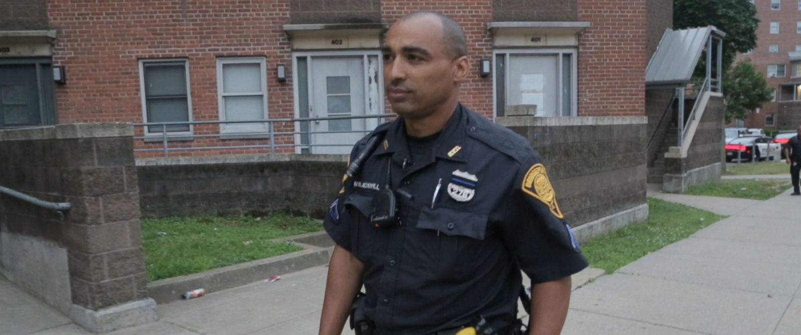 after dallas shootings black officer says for all cops on patrol officer mark blackwell the bridgeport conn police department is seen here during