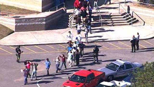 PHOTO: At least one student has been shot outside of Cape Fear High School, near Raleigh, N.C.