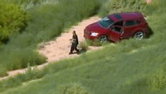 PHOTO: Carjacker outside car