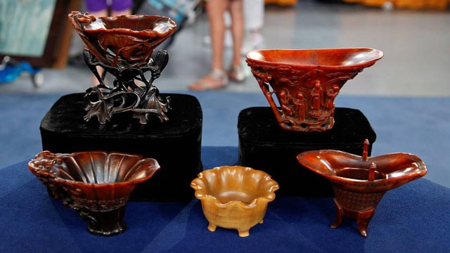 PHOTO:&nbsp;PBS's &quot;Antiques Roadshow&quot; recorded the highest-value appraisal in the series' 16 years of production. Veteran ROADSHOW Asian arts expert Lark Mason identified a collectionof five late 17th century Chinese carved rhinoceros horn cups and valued the 