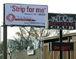 PHOTO: A local church in Birmingham, Ala. has posted a billboard, with scripture, in front of a strip club to challenge men to stay home.