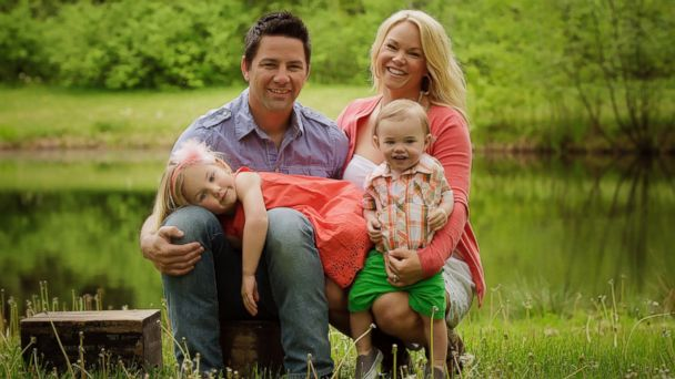 Tom and Kelley Clayton seen here with their two young children in this family photo.