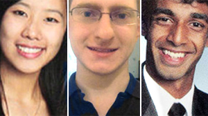 PHOTO Tyler Clementi, center, took his life by jumping from George Washington Bridge after Molly Wei, left, and Dharun Ravi allegedly recorded him having sexual activity in his dorm room on September 19.