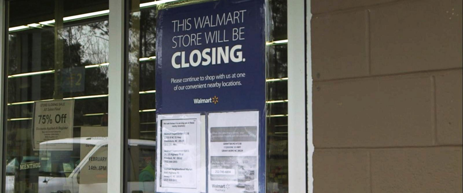 PHOTO: On Jan. 15, Walmart announced that it was closing 269 of its stores globally, including 154 sites in the US, for business reasons.