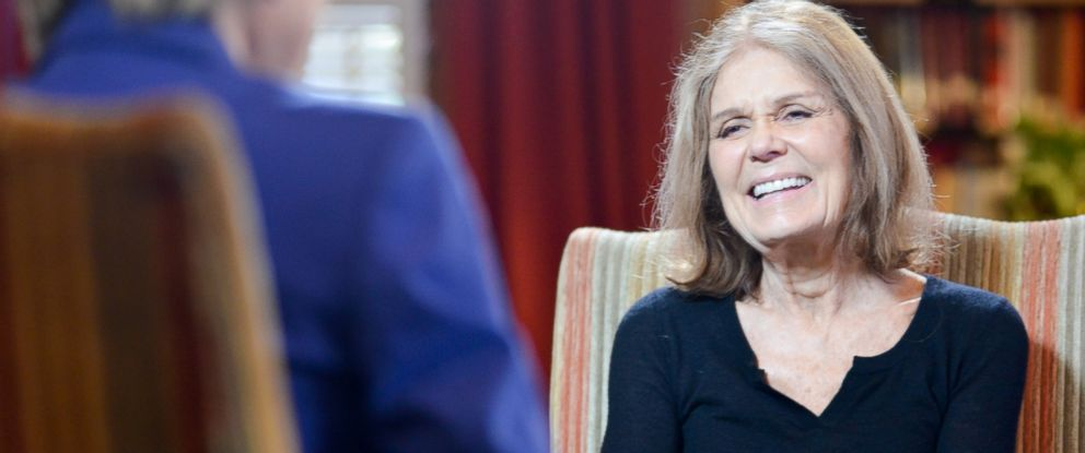 "PHOTO: Cokie Roberts interviews Gloria Steinem for ""This Week"" at the University Club in Washington, Oct. 29, 2015"