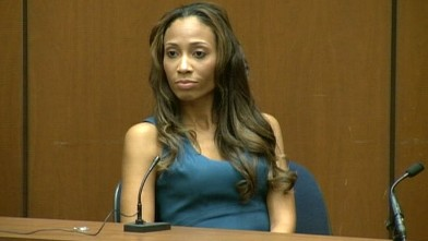 PHOTO: Nicole Alvarez testifies during Dr. Conrad Murray's trial in the death of pop star Michael Jackson in Los Angeles,  Oct. 4, 2011.