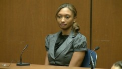 PHOTO: Sade Anding testifies during Dr. Conrad Murray's trial in the death of pop star Michael Jackson in Los Angeles, Oct. 4, 2011.