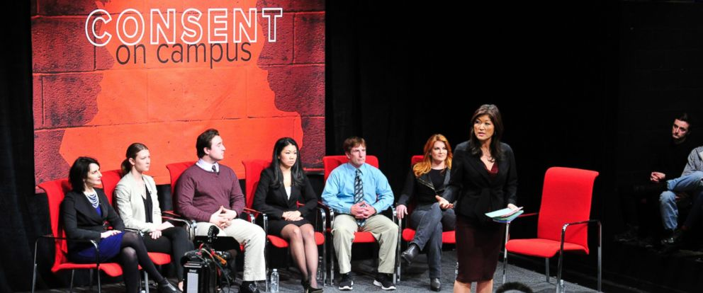 "ABC News ""Nightline"" co-anchor Juju Chang moderates ""Consent on Campus: A Nightline Event"" held at Penn State University."