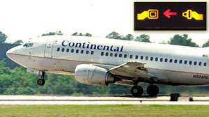 PHOTO A Continental Airlines 737 takes off from George Bush Interconti