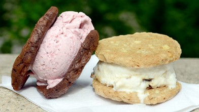 PHOTO: Coolhaus features homemade ice cream sandwiches, at their New York City cart, located near the Natural History Museum and Central Park, New York, July 27, 2012.