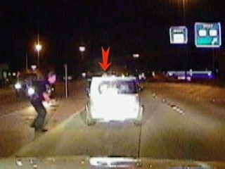 Cop Pushes Woman Away From Car Crash