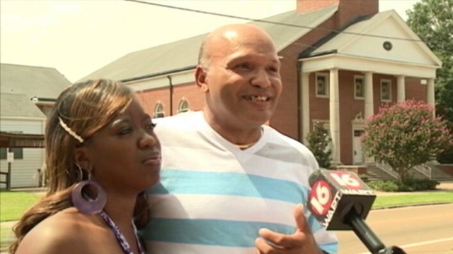 Charles and Te'Andrea Wilson were banned from having their wedding at the First Baptist Church in Crystal Springs, Mississippi because they are black.